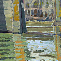 Oil painting Sellwood Bridge by Shawn Demarest