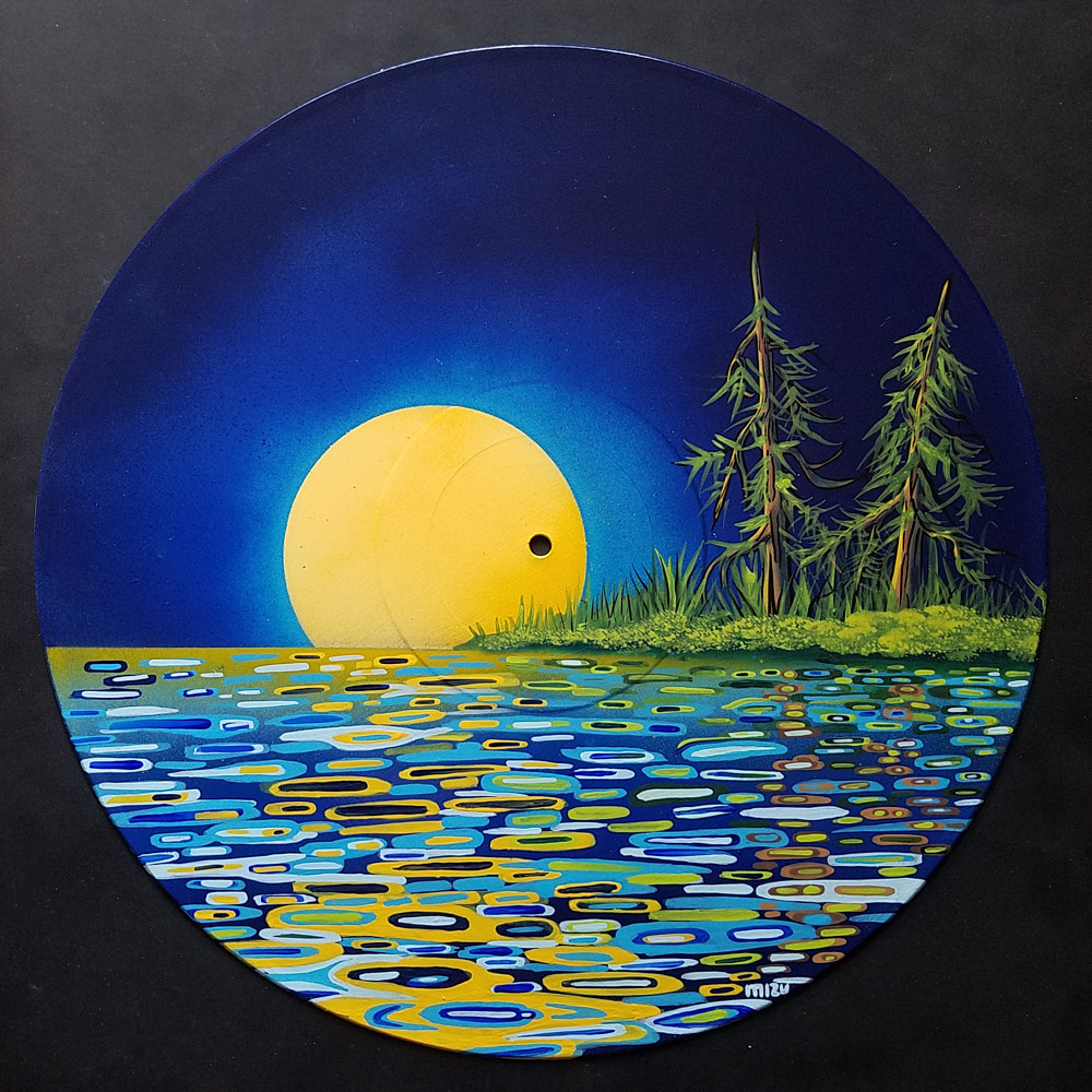 Yellow Moon Reflection  by Isaac Carpenter