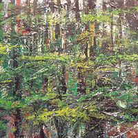 Acrylic painting Forest Rhythms #2 by David Tycho