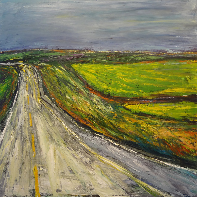 Acrylic painting Highway 3 Revisited by David Tycho