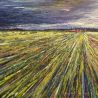 Acrylic painting Prairie Rhapsody  by David Tycho