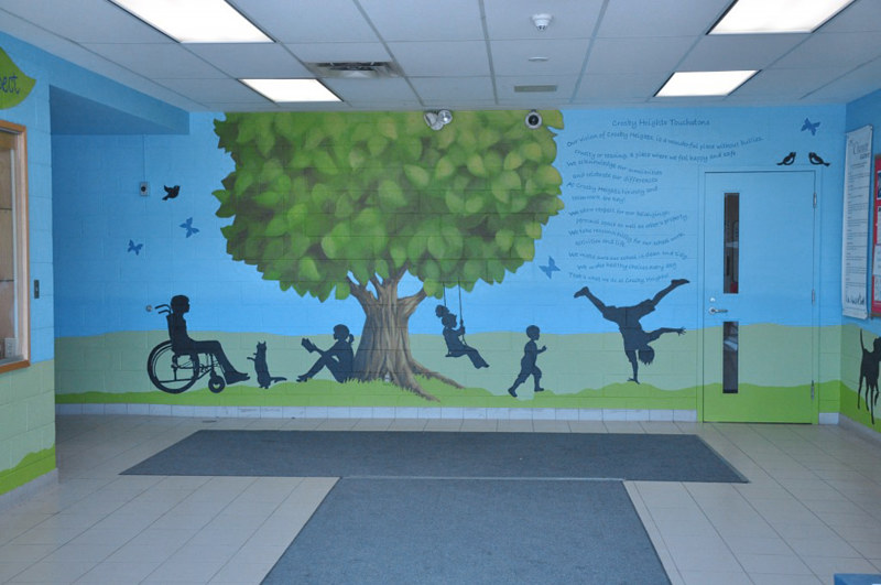 CROSBY HEIGHTS P.S. FOYER  by Cindy Scaife