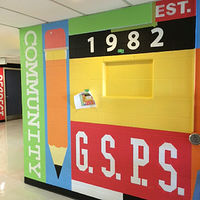 Painting Glen Shields P.S. foyer mural detail  by Cindy Scaife