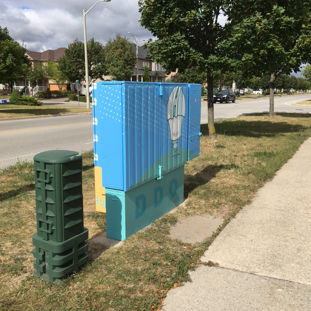 Painting Bell Box Public Mural Project by Cindy Scaife