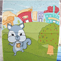 Painting Brock Early Learning Centre - Storage Unit Mural - Side 3 by Cindy Scaife