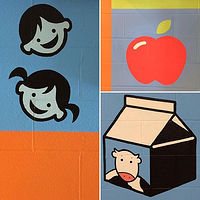 Painting Glen Shields P.S. foyer mural detail  4 by Cindy Scaife