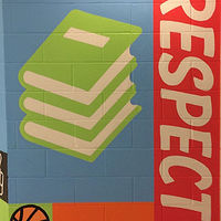 Painting Glen Shields P.S. foyer mural detail  3 by Cindy Scaife