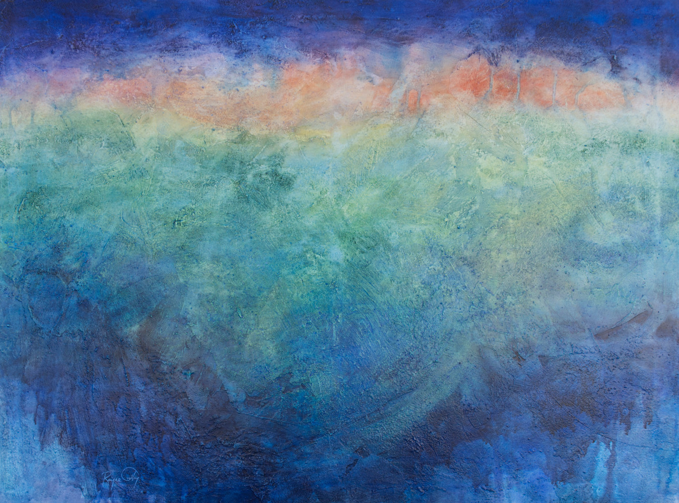 Tunley, Rayne, Nature's Crescendo, 30in x 40in watercolour, varnished by Rayne Tunley