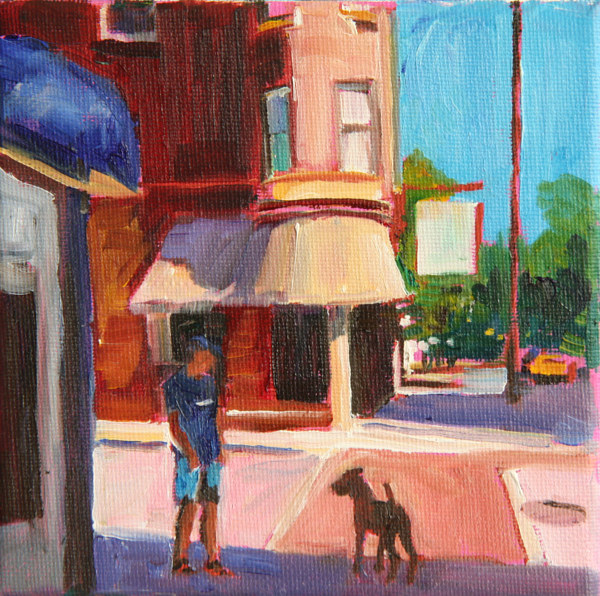 Oil painting clark street walk  by Madeline Shea