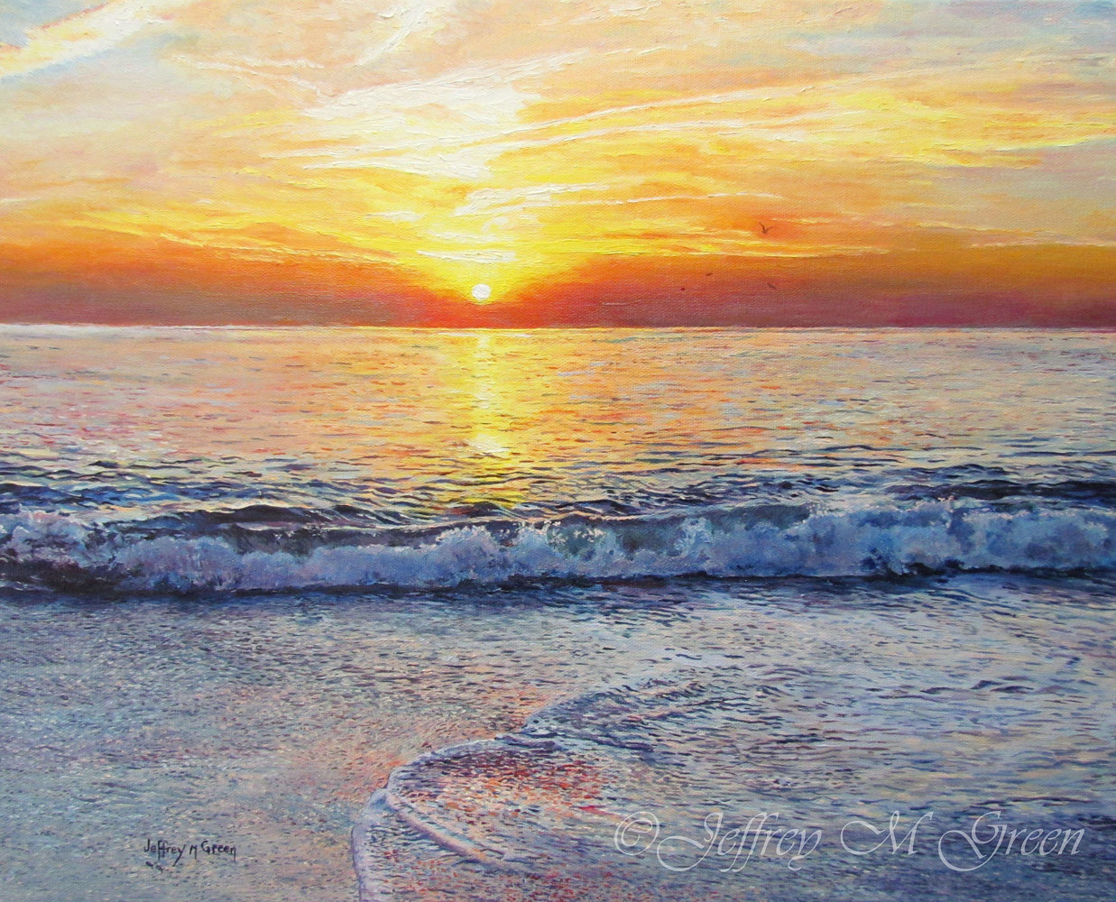 """Atlantic Morning"", 16"" x 20"", oils on canvass. by Jeffrey Green"