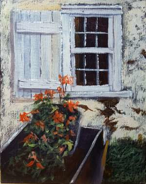 Acrylic painting Country Window by George Servais