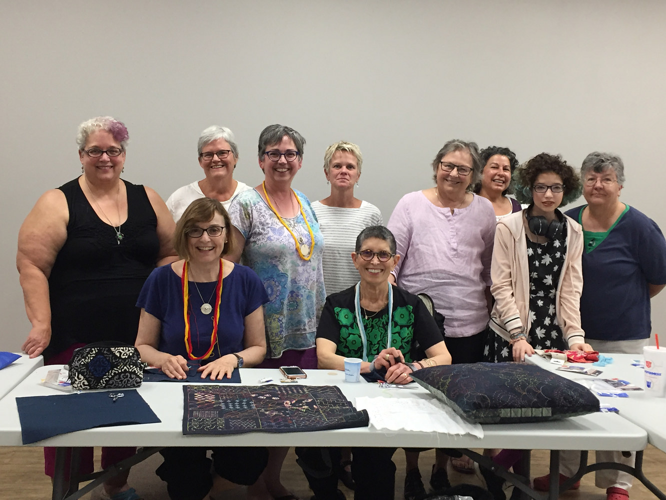 Intro to Sashiko Stitching, Blue Bar Quilts, Madison WI 2017 by Maday Delgado
