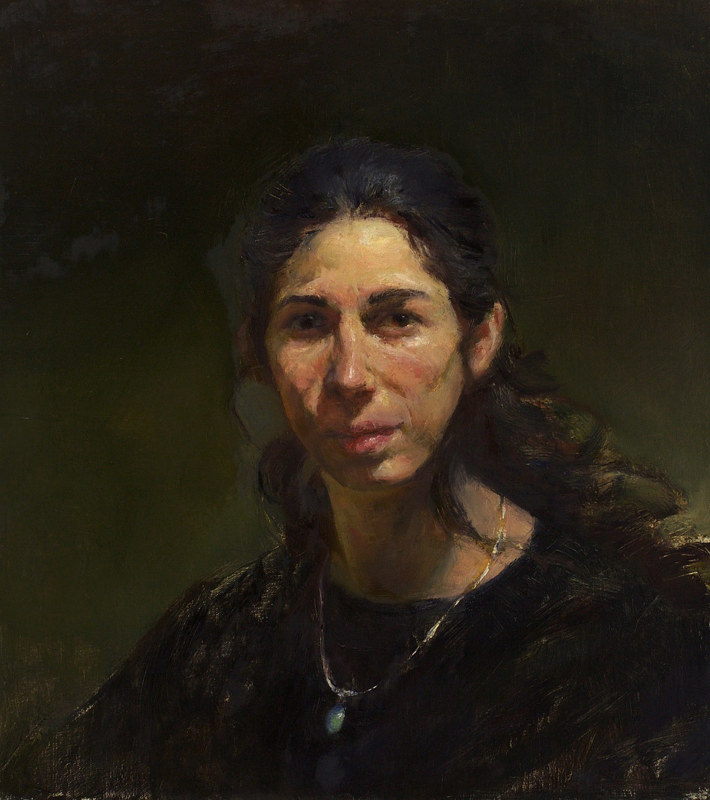 Oil painting Savina by Julie Gladstone