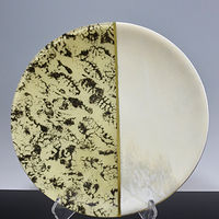 Kiln-formed Glass, Fractal Series, Tea by Claudia Whitten