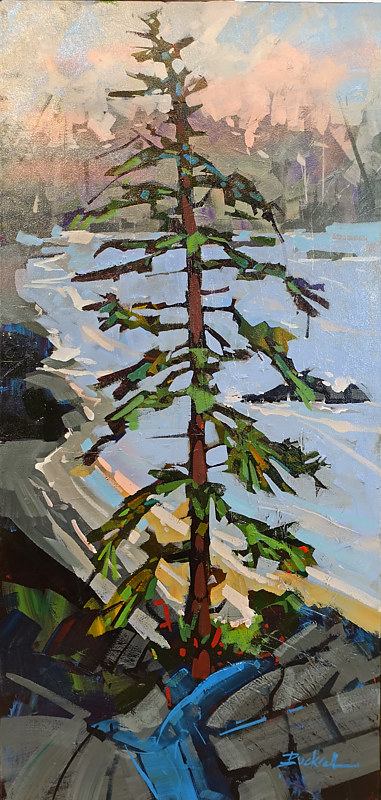 Above Uclulet Acrylic 18x26 2016 by Brian  Buckrell