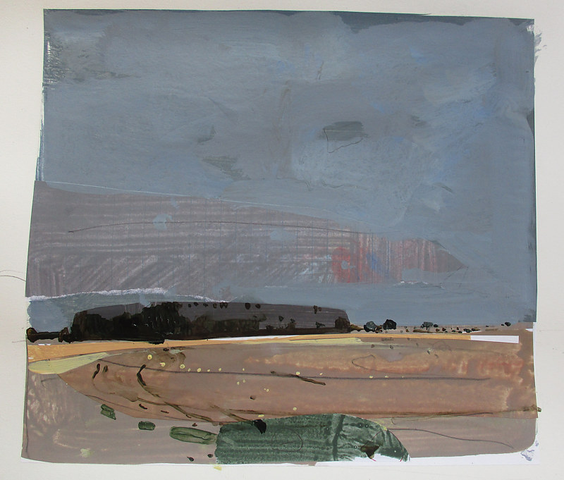 Acrylic painting Southbound, November 5 by Harry Stooshinoff