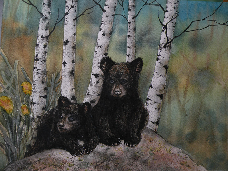 Watercolor The Innocent Pair by Vicki Allesia