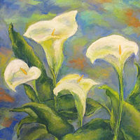 Painting Calla Lilies by Karen Spears