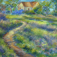 Oil painting Path to Home by Karen Spears