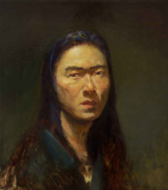 Oil painting Realize (SelfPortrait) by Julie Gladstone