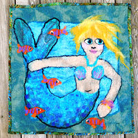 Sassy Mermaid rug by Valerie Johnson