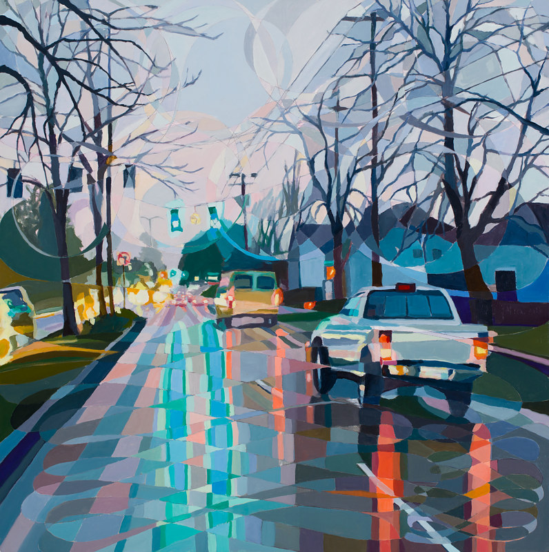 Oil painting Butterfly/Powell Blvd by Shawn Demarest