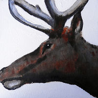 Acrylic painting WAPITI #9 by Edith dora Rey