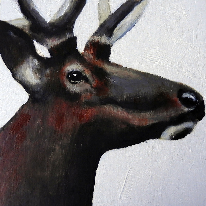 Acrylic painting WAPITI#1 by Edith dora Rey