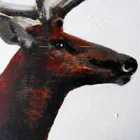 Acrylic painting WAPITI#4 by Edith dora Rey