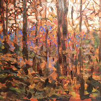 Oil painting Through the Trees by Edward Miller