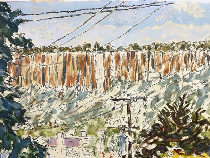 Oil painting Palisades from Fivepoints by Edward Miller