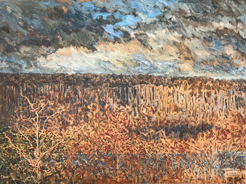 Oil painting Palisades  by Edward Miller
