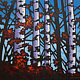 Painting Jasper Aspens 48x48  by Bryan  Coombes