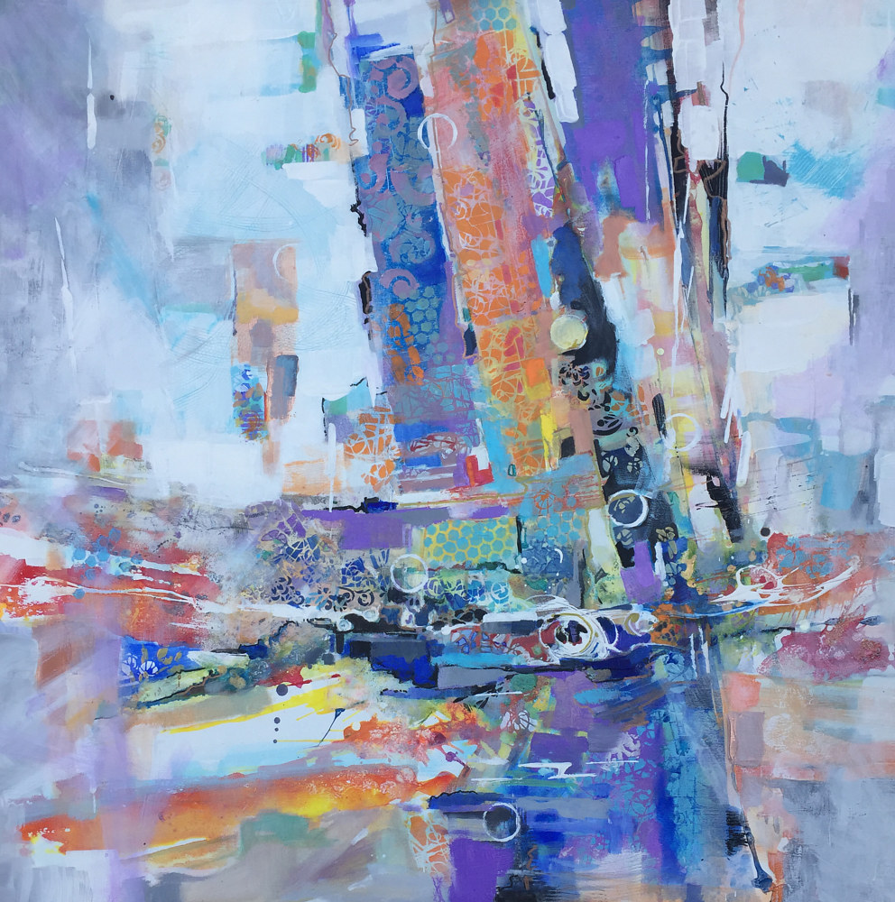 Acrylic painting Symphony of the City by Marty Husted