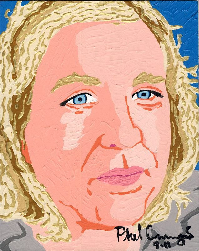 Acrylic painting Ann Cummings Ellwood by Phil Cummings