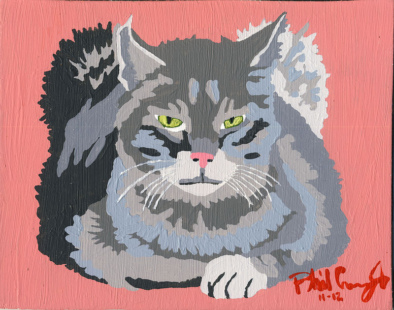 Acrylic painting Petey by Phil Cummings
