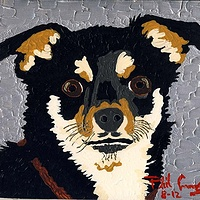 Acrylic painting Chico (silver) by Phil Cummings