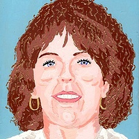 Acrylic painting Susan 1982 by Phil Cummings