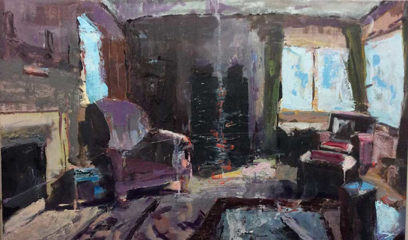 Oil painting Empty Living Room Chairs by William Sharp