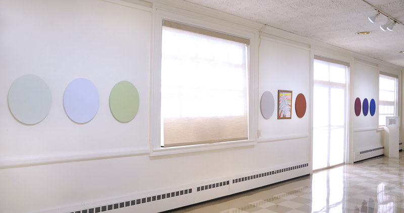 "Installation view: Conveyors and Outliers 20"" x 16"" each by Judy Southerland"
