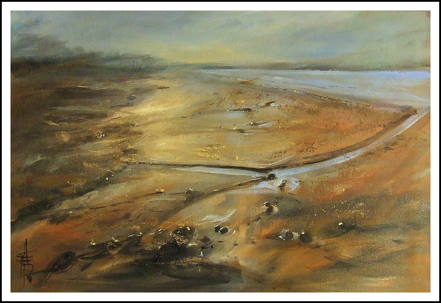 Sienna Sands, 20x28,oil on canvas. by Anne Farrall Doyle