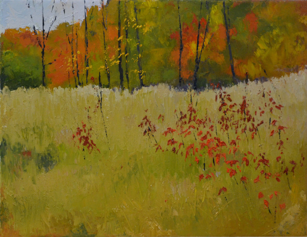 Oil painting Autumn Lyrica, oil on canvas, 14 x 18- 6-0118 by Patricia Savoie