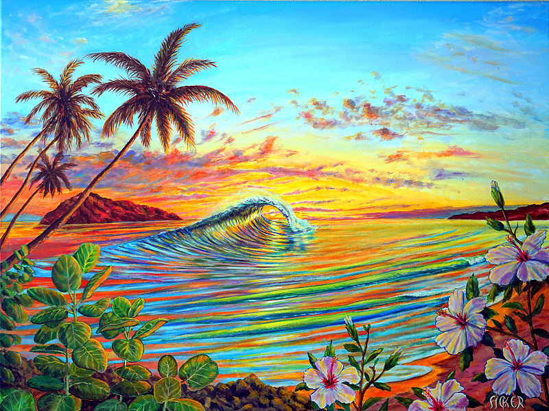 Acrylic painting Dream Break by Richard Ficker