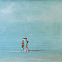 Acrylic painting A Brother and A Sister by Sally Adams