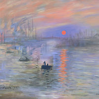 Impression, Sunrise by Sally Adams