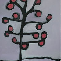 Oil painting the apple tree by Michele Ridgeway