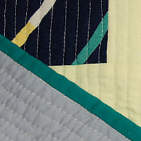 skystripe quilt detail by Stephanie Cormier