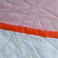 diamondcake quilt detail by Stephanie Cormier
