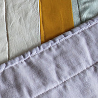 threes quilt detail by Stephanie Cormier