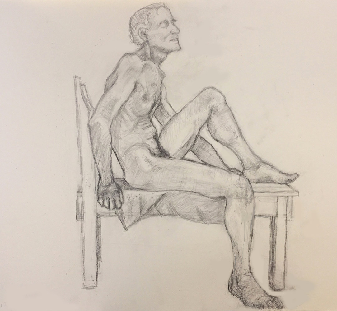 Drawing Life Drawing by Anastasia O'melveny